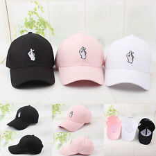 Fashion Men Women Finger Heart Solid Color Baseball Cap Hip-hop Snapback Hat