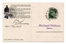 NORWAY/POLAR: Postcard to Denmark from Fram, Amundsen, Polhavet 1914, scarce(A3)