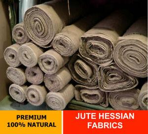 Jute Hessian Fabric Woven Natural Jute Burlap Sack Garden Craft Upholstery-90cm