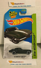 '64 Corvette Sting Ray #223 * Dark GREEN Kmart * 2014 Hot Wheels *  G8