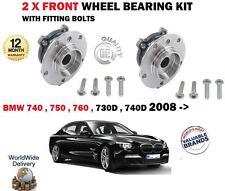 Für BMW 730D 740D 740 750 760 Hybrid 2008- > Neu 2 X Radlager Vorne Nabe Set