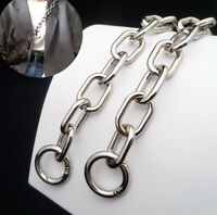 PURSE SHOULDER CROSSBODY CHAIN STRAP METAL REPLACEMENT SILVER 17mm/0.7inch