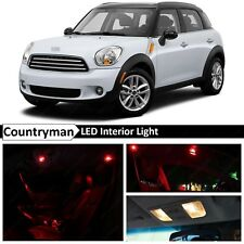 15x Red LED Light Interior Package Kit Fit 2011-2014 MINI Cooper Countryman S