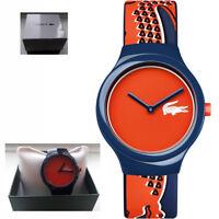 *BNIB* Genuine Lacoste 2020113 Goa Silicone Strap Orange/Red Dial Watch