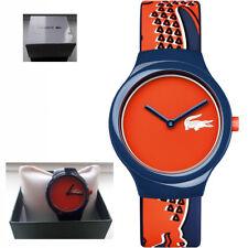 REDUCED* Genuine Lacoste 2020113 Unisex Goa Silicone Strap Orange/Red Dial Watch