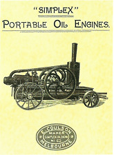 Portable Oil Engines Metal Sign Repro (WAR023)