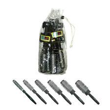 EUROSTIL Thermal Radial Brushes 6 Aluminum Tube Hot Curl Hairdressing Brush Set