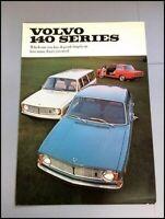 1969 Volvo 140 142 144 145 Vintage Original Car Sales Brochure Catalog
