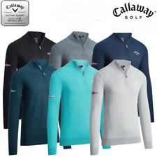 Callaway Golf Men's Merino Mix 1/4 Zip Sweater - Odyssey tour logo CGGF80M1