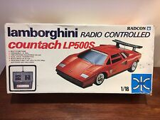 RARE VINTAGE 1982  RADCON SILVER LAMBORGHINI COUNTACH LP500S RC 1:18 27Mhz PROP