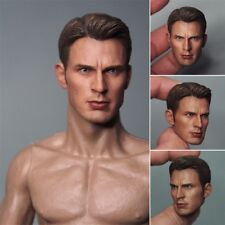 1/6 Captain America Model Infinity War Head Sculpt For 12'' Hot Toy Figure Body
