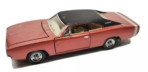 1968 Dodge Charger 1:43 Diecast Car Copper Bronze Franklin Mint Doors Hood Open