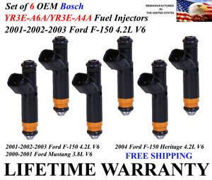 Set of 6 Genuine Siemens Fuel Injectors For 2001-2002-2003 Ford F-150 4.2L V6