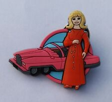 THUNDERBIRDS PIN BADGE FAB 1 & LADY PENELOPE GERRY ANDERSON REF #1