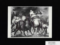 Art Masterpiece - Bookplate/Lithograph/ Escaped Bull by JON CORBINO