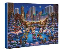 Eric Dowdle Mickey and Friends Skating in Central Park 11 x 14 Wrapped Canvas