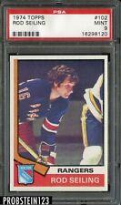 1974 Topps Hockey #102 Rod Seiling Rangers PSA 9 MINT