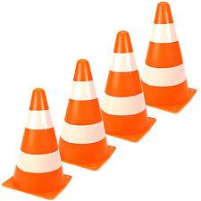 4er Set Pylonen Verkehrskegel für Kinder Verkehrshütchen 4 Stück Pylone orange