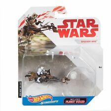 Disney Star Wars Starships Diecast Hot Wheels Speeder Bike with Flight Stand New