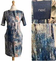 Next Women's Mini Dress Size Uk 12 Blue Dress With Pockets EUR 40
