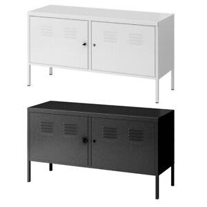 Metal Cabinet Lockable 2 Doors Cupboard Locker Console Storage Filling Cabinet