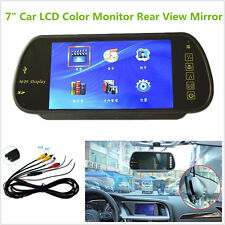 HD 7Inch LCD Color Rear View Mirror Monitor Bluetooth FM USB SD MP5 Monitor 2 AV