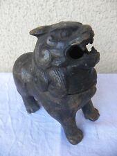 Chien de fô, brûle parfum en fonte de fer. Chine. Dynastie Ming. lion gardien