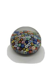 "Vintage Art Glass 3"" Paperweight Milefiori Strathearn"