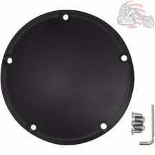 Drag Specialties Domed Satin Black Derby Cover 5 Hole Harley Twin Cam 1999-2017