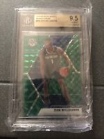 2019-20 Panini Mosaic Zion Williamson Green Prizm RC #209 BGS 9.5 Gem Mint