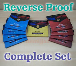 2020, 2019, & 2018 American Innovation $1 REVERSE Proof Complete Set.