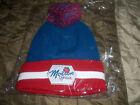 Molson Canadian Hat Red White Blue Ski Cap Pom Pom Winter Beanie
