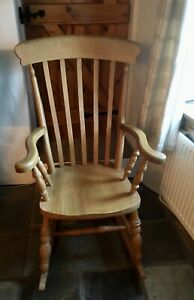 Solid Pine Rocking Chair
