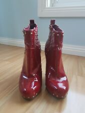 CARVELA red patent leather ankle boot heel size 37