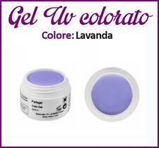 GEL UV NAIL ART COLORATI  RICOSTRUZIONE UNGHIE NAILS TIPS TIP 5ML LAVANDA