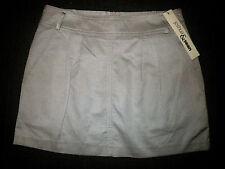 $69 Designer Joshua & Sean 8 Light Beige Pleat Short Cotton Sexy Mini Skirt