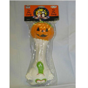 Halloween Pumpkin and Goblin Dumbbell Vinyl DOG TOY