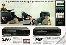 PUBLICITE ADVERTISING  1987   AMSTRAD  (2 pages)  magnétoscope