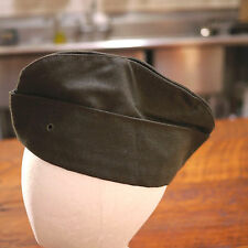 US ARMY Military Olive Green Gabardine Wool Serge Garrison Cap Hat 6 3/4