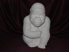 Ceramic Bisque Andrew the Ape U-Paint Unpainted Ready to Paint Primate Monkey