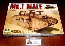 WWI heavy Battle Tank Panzer Mk. I MALE + Crane + Trailer 1:35 Takom  TAK-2031