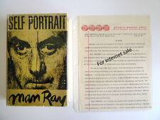 Rare SIGNED ~ MAN RAY Advance Copy 1st Edition 1st Printing Self Portrait 1963