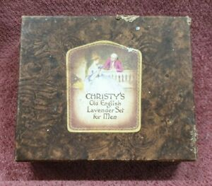 VINTAGE CHRISTYS OLD ENGLISH LAVENDER SET FOR MEN BOX
