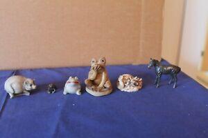 6 Vintage miniature animals Figurines