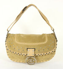 DIOR Tan Suede & Beige Leather PEACE AND LOVE Hobo Shoulder Bag