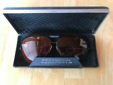 Vintage Serengeti Black Aviator Sunglasses Frame 5363V Corning Optics & Case