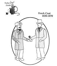 1830-1870 Civilian, Civil War Union or Confederate Frock Coat Sewing Pattern