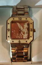 Disney Tinker Bell Women's Enamel Sparkle Rose Gold  Watch Bracelet