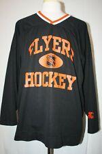 VTG 90s Starter Philadelphia Flyers Black Practice Hockey Jersey NHL Sz XXL 2XL