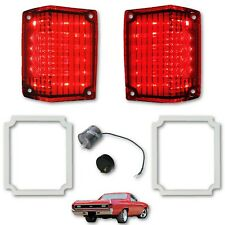 70 71 72 Chevy El Camino LED Tail Brake Light Lenses Foam Gaskets & Flasher Set